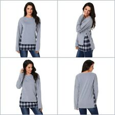 Women Long Sleeve Hoodie Patchwork Sweater Loose Jumper Tops Pullover Oversized