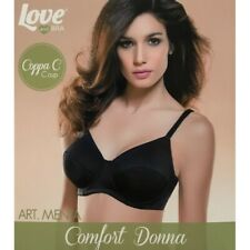 Love and Bra reggiseno coppa C con ferretto, Menta colore Nero MENTA NERO