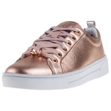 Ted Baker Kellei Womens Pink Leather Casual Trainers Lace-up Genuine Shoes