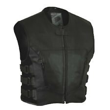 MOTO REGOLATORE Stripped gilet gilet pelle moto chopper custom bike.tg-xl