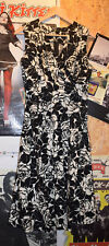 Floral Vestido S/W dress vestir falda azul blanco 50er ROCKABILLY OLDSCHOOL