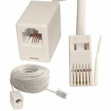 RJ11 UK to US Female ADSL Broadband Internet Modem Telephone Extension Cable HQ