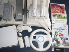 PRE-OWNED NINTENDO Wii SETS, BOARDS 7 GAMES  click - Select - to browse or order