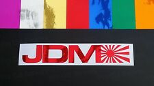 JDM Rising Sun COLORATE Chromes VINILE fustelle Finestrino Automobile PARAURTI