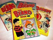 VINTAGE UK COMIC ANNUALS > BEANO, DANDY & more 1950/90 click Select to browse