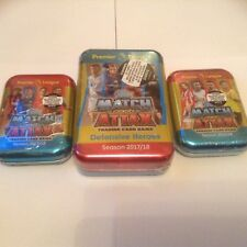 3 SEALED MATCH ATTAX TINS, 2017 2018 LIMITED EDITIONS 17 18, MATCH ATTACKS CARDS