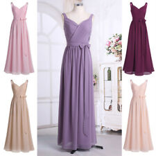 Women's Chiffon Elegant Dress Ball Gown Prom Evening Party Bridesmaid Wedding