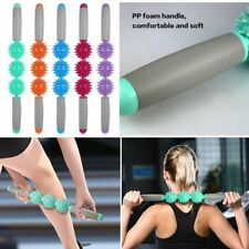 Spikey 3 Ball Trigger Point More Mile Muscle Therapy Stick Roller Wand Massager