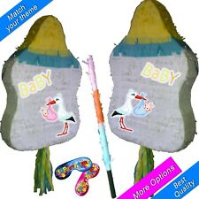 Baby Shower Guess the Gender Feeder Nipple Pinata set Kids Smash Party New Stick