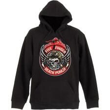 OFFICIAL LICENSED - FIVE FINGER DEATH PUNCH - BOMBER PATCH HOODED SWEATSHIRT
