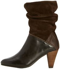 Fly London Ging stivaletti pelle donna Marrone scuro Expresso 163024