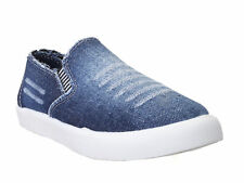 Zappy Men's Synthetic Leather Slip On Solid Blue Casual Shoes (G028-012-201-Ble)