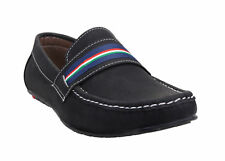 Catbird Men's Synthetic Leather Slip On Solid Black Loafers G053-046-1005-Black