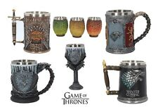 Fully Licensed Game of Thrones Tankards, Goblet and Shot Glasses
