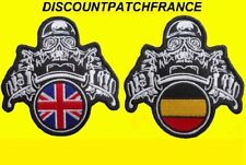 Biker UK BELGIUM Patch écusson thermocollant aufnäher embroidered