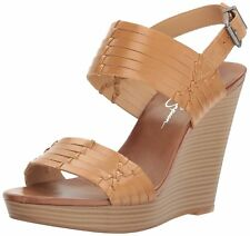 Jessica Simpson Womens Jayleesa Leather Open Toe Casual Slingback Sandals