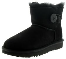 Ugg Mini Bailey Button II Mujer Botas Negro