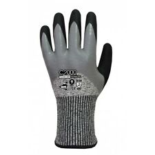 12 paires de gants de travail - Gants anti coupure  Niveau 5 - Double enduction