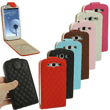 Leather Luxury Magnetic Flip Case Cover Closure For Samsung Galaxy S3 SIII i9300