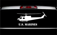 USMC UH-1 Huey Side View Military Vet Aircraft Graphics Decal Sticker Car