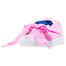 Puma Basket Heart Patent Toddler Pink Walking Trainers New Style
