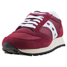 Saucony Jazz Original Vintage Mens Red Suede & Mesh Casual Trainers Lace-up
