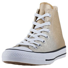 Converse Chuck Taylor All Star Hi Womens Gold Synthetic Casual Trainers Lace-up