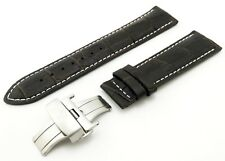 Brown Leather Strap Band for Tissot Watch with Clasp and Pins 18 19 20 21 22mm