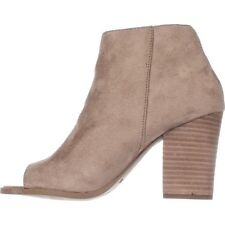 Carlos by Carlos Santana Womens Jade Suede Open Toe Ankle Fashion Boots