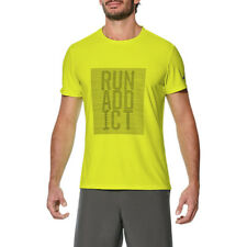 Asics Short Sleeve Top Mens Tee Training Wicking Running Crossfit T-Shirt