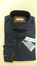 Camicia Uomo FREE MAN Sartoriale Slim Fit GC224 BLU/SENAPE (100% Made in Italy)