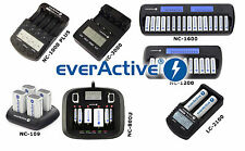 EverActive Chargeur NC 1000 PLUS 3000 900u 109 1200 1600 pour AA AAA 9V C D