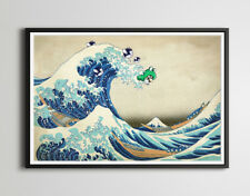 Frog Mario vs. The Great Wave! - Original POSTER (up to 24 x 36) - High Quality
