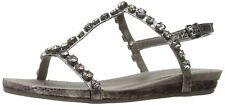 Kenneth Cole REACTION Women's Lost Catch Flat Open Toe Gemstone Accents-Embos...