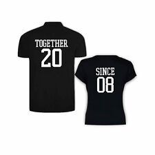 Valentine Gifts Together Since 2008 Couple Tshirts for Men Polo Women Round Neck