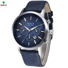 Men Watches Fashion Wristwatch NORTH 30M Waterproof Stainless Steel Casual  C...