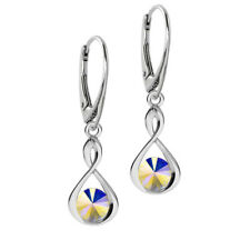 925 Sterling Silver Leverback Earrings Infinity Rivoli Crystals from Swarovski®