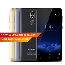 "Cubot R9 5.0"" 2.5D Android 7.0 2+16GB 3G Smartphone Quad Core 13MP 2600mAh 2SIM"
