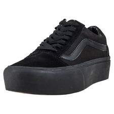 Vans Old Skool Platform Womens Black Suede & Canvas Casual Trainers Lace-up