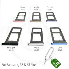 SIM & SD Card Tray Holder Slot for Samsung Galaxy S8 G950F S8 Plus G955F + Tool