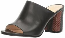 Nine West Womens Gemily Leather Open Toe Mules