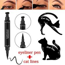 2in1 Dual-ended Eyeliner Pen With Stamp Seal+Cat Eyeshadow Template Card DQUK