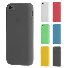 Custodia in silicone per iPhone 5C purecolor PARAURTI PROTEZIONE COVER