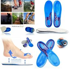 WORK BOOTS ORTHOTIC FOOT ARCH SUPPORT HEEL SHOE INSERTS GEL MASSAGING INSOLES FR