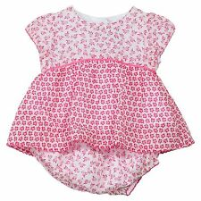 New Branded Absorba Baby Girls' Pink Dress Knickers Outfit Set 6M 9M 12M 18M 23M