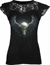 Spiral - RAVENS CAGE - Womens Lace Layered Cap Sleeve Top