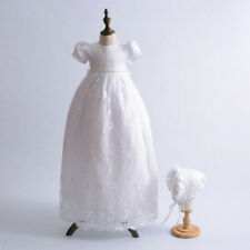 Gorgeous Beaded Embroidery Christening Dress Baby Girl Baptism Gown 3-9 Months