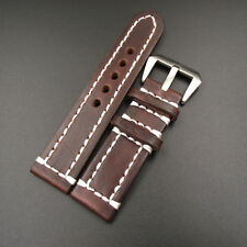 1PCS  High quality 18MM 20MM 22MM 24MM genuine leather handmade Watch band wa...