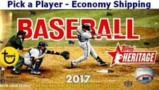 2017 Topps Heritage Baseball Complete Your Set 201-400 Economy Shipping