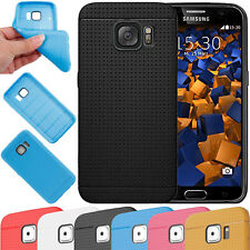 silicone slim fit GEL TPU A RETE PRESA Custodia Morbida Cover per Samsung Galaxy